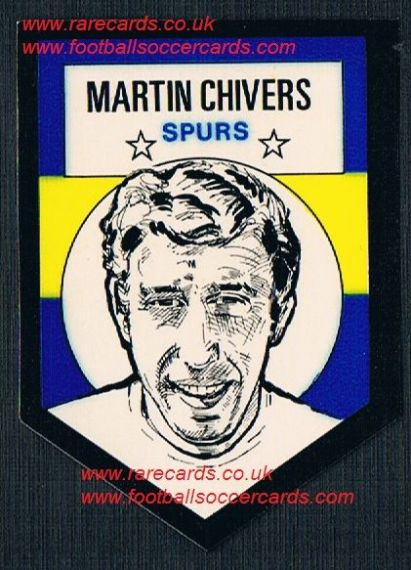 1972 BAB unused Shooting Stars Spurs Martin Chivers with original backing paper